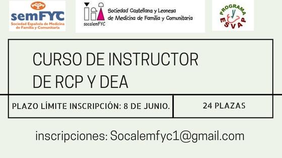 Nuevo curso de Instructor en RCP y DEA