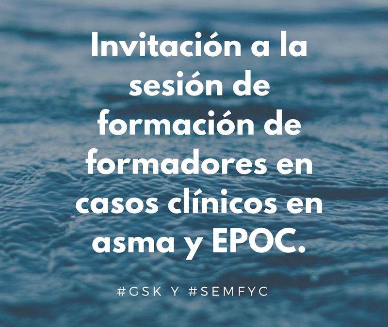 Invitación a Webinar gratuita de formación de formadores en casos clínicos en asma y EPOC
