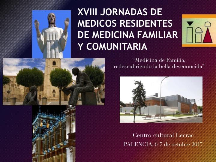 Jornadas de Médicos Internos Residentes de Medicina de Familia de Castilla y León, el 6 y 7 de octubre