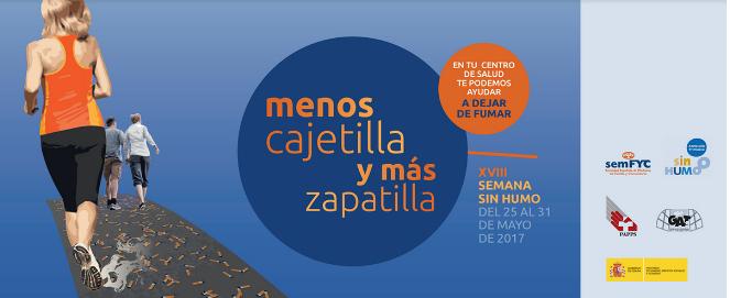 """XVIII Semana sin humo:"""" Menos cajetilla y mas zapatilla"""""""
