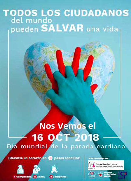 Actividades con motivo del Día Mundial de la Parada Cardíaca, 16 de octubre