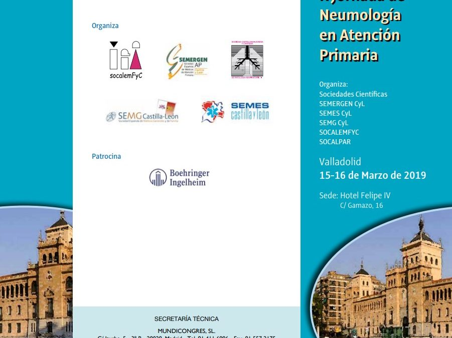 Presentaciones X Jornada de Neumología en Atención Primaria, Valladolid, 15-16 de marzo de 2019.