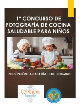1er Concurso de fotografía de cocina saludable para niños de entre 5 y 12 años
