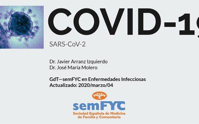 Todo lo que se sabe hasta ahora (19 de marzo) sobre el COVID-19, recopilado por el Grupo de enfermedades infecciosas de semFYC