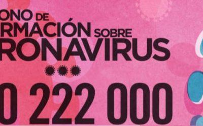 Teléfono de información gratuito habilitado por la Consejería de Sanidad para consultas a la población sobre el COVID-19